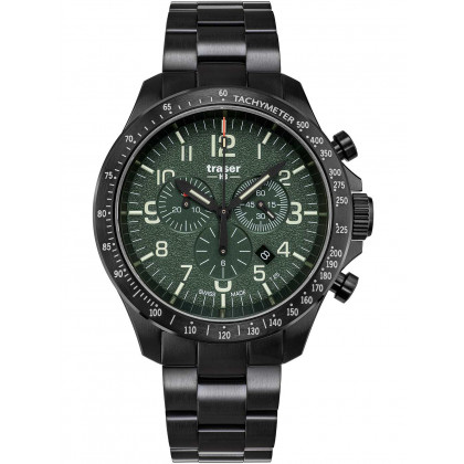 Traser H3 109464 P67 Officer Cronografo Green Acciaio 46mm 10ATM