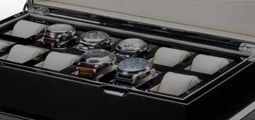 Scatole e vetrine per orologi
